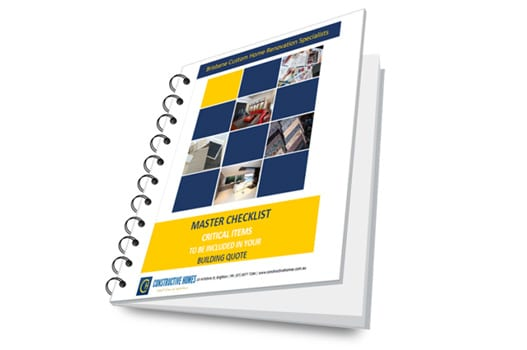 Master Checklist - Critical items to be included in your building quote