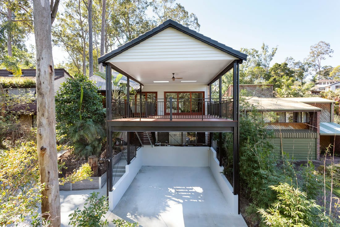 Chapel Hill home extension - deck and concrete